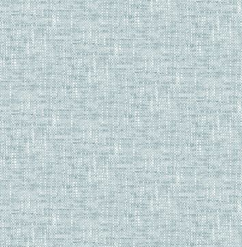 Picture of Aqua Poplin Texture Peel & Stick Wallpaper - View
