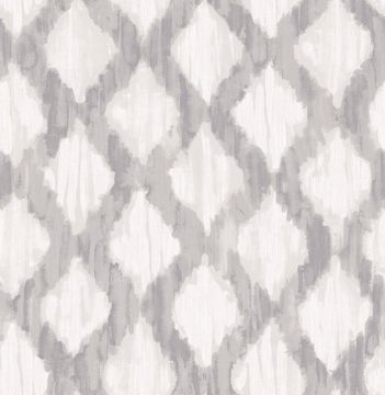 Picture of Grey Floating Trellis Peel & Stick Wallpaper - View