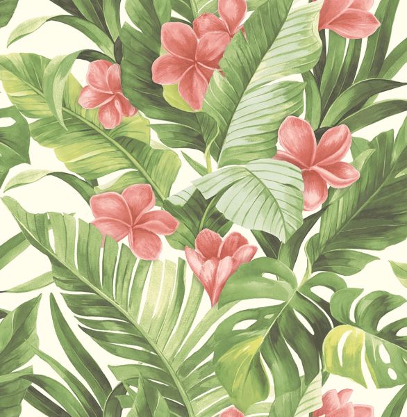 Picture of Tropical Paradise Peel & Stick Wallpaper - View