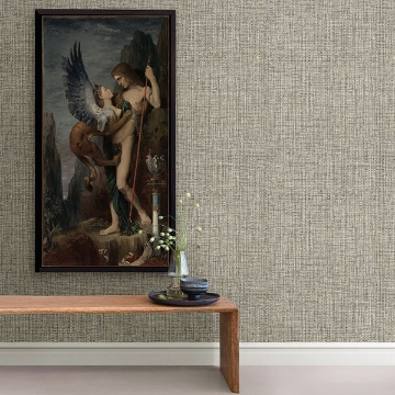 Picture of Rattan Coffee Woven Wallpaper