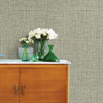 Picture of Rattan Green Woven Wallpaper
