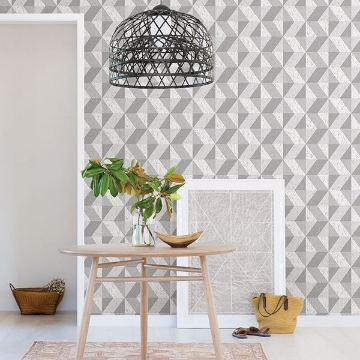 Picture of Cerium Grey Concrete Geometric Wallpaper