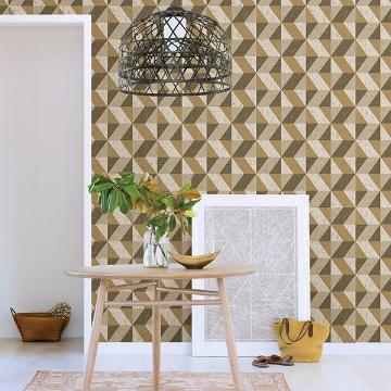 Picture of Cerium Light Brown Concrete Geometric Wallpaper