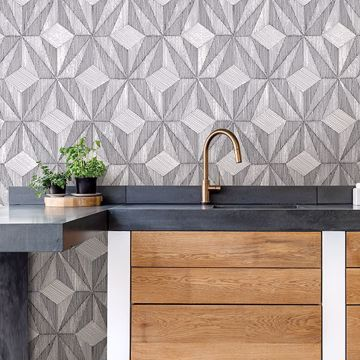 Picture of Paragon Black Geometric Wallpaper