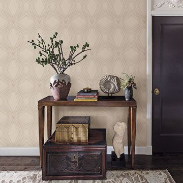 Picture of Relativity Beige Geometric Wallpaper