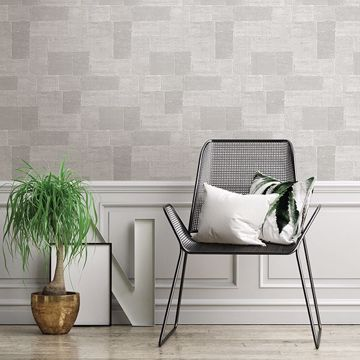Picture of Composition Silver Global Geometric Wallpaper