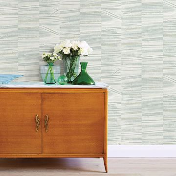 Picture of Lithos Sage Geometric Marble Wallpaper