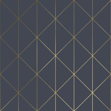 Picture of Diamonds Navy Geometric Wallpaper