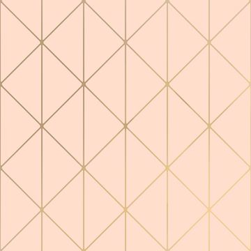 Picture of Diamonds Blush Geometric Wallpaper