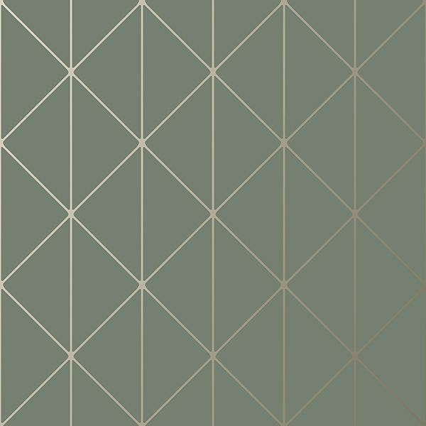 Picture of Diamonds Olive Geometric Wallpaper
