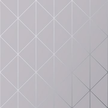 Picture of Diamonds Grey Geometric Wallpaper
