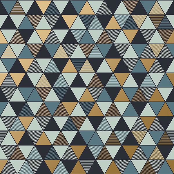 Picture of Triangular Multicolor Geometric Wallpaper