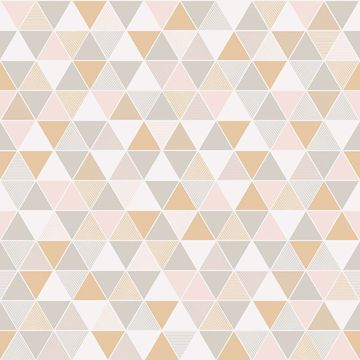 Picture of Triangular Off-White Geometric Wallpaper
