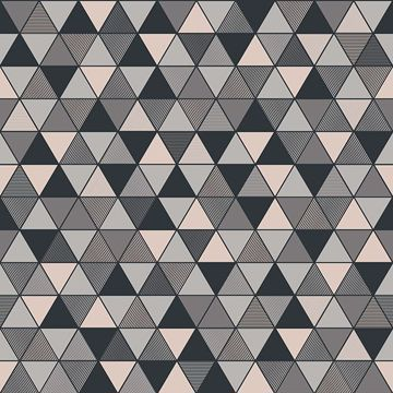 Picture of Triangular Grey Geometric Wallpaper