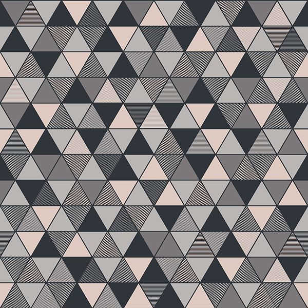 Picture of Triangular Grey Geometric Wallpaper