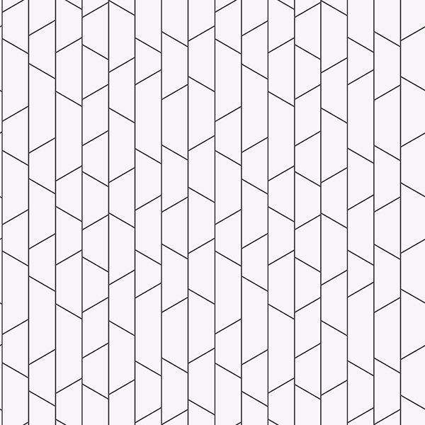 Picture of Angle White Geometric Wallpaper