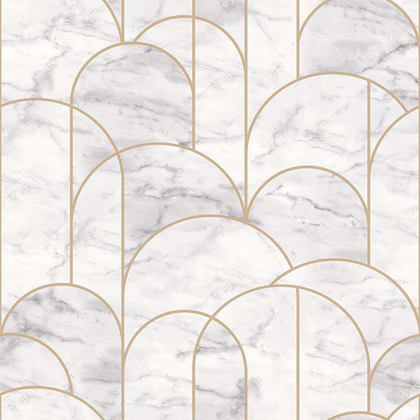 Picture of Arch Light Grey Geometric Wallpaper
