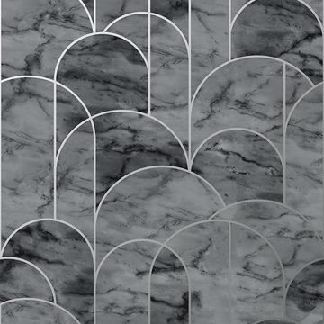 Picture of Arch Grey Geometric Wallpaper