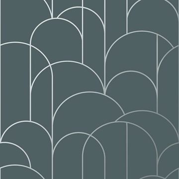 Picture of Arch Slate Geometric Wallpaper