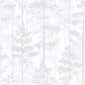 Picture of Pine Off-White Silhouette Trees Wallpaper