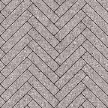Picture of Raw Tiles Light Grey Herringbone Concrete Wallpaper
