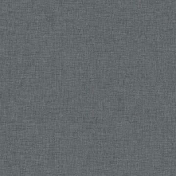 Picture of Zack Uni Dark Grey Faux Linen Wallpaper