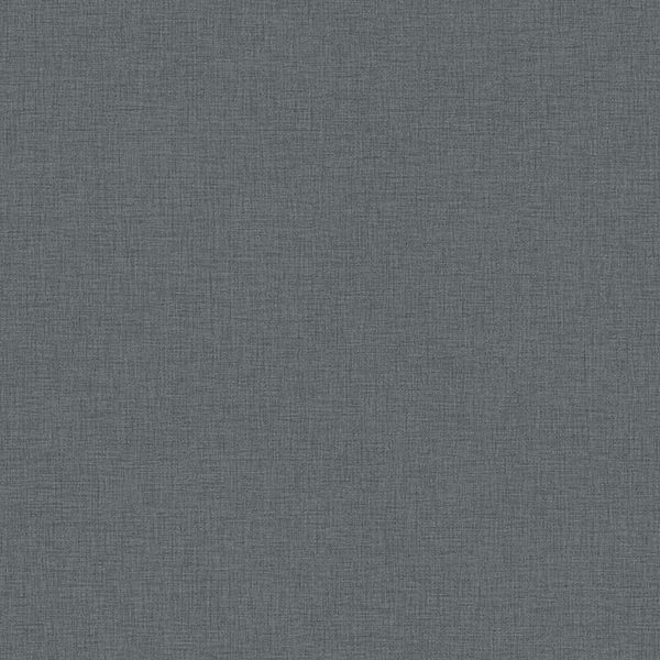 Picture of Zack Uni Dark Grey Faux Linen Wallpaper