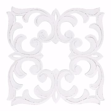 Picture of Javen White Carved Medallion