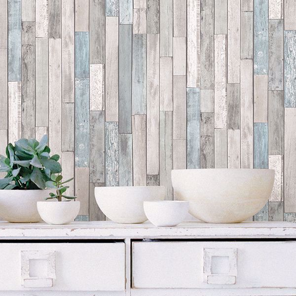 Picture of Weathered Plank Shore Peel & Stick Wallpaper