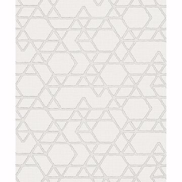 Picture of Montego Off-White Geometric Wallpaper