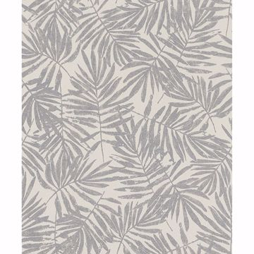 Picture of La Veneziana Pewter Leaf Wallpaper