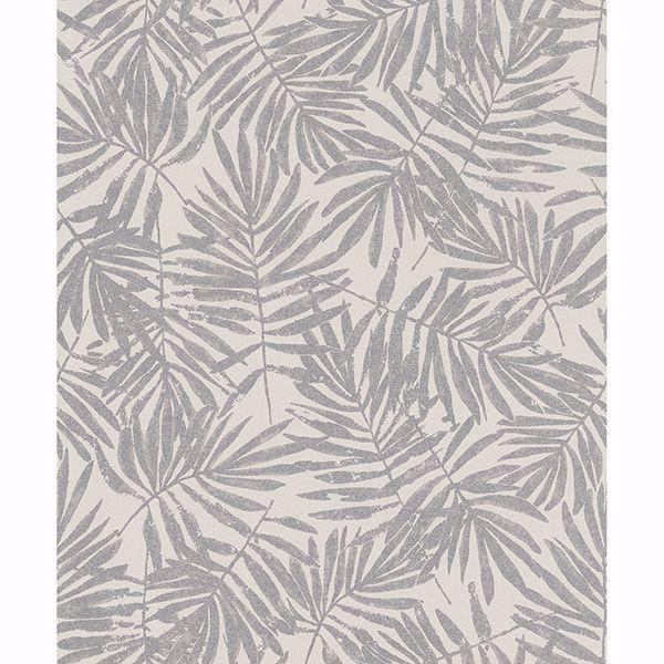 Picture of La Veneziana Pewter Leaf Wallpaper