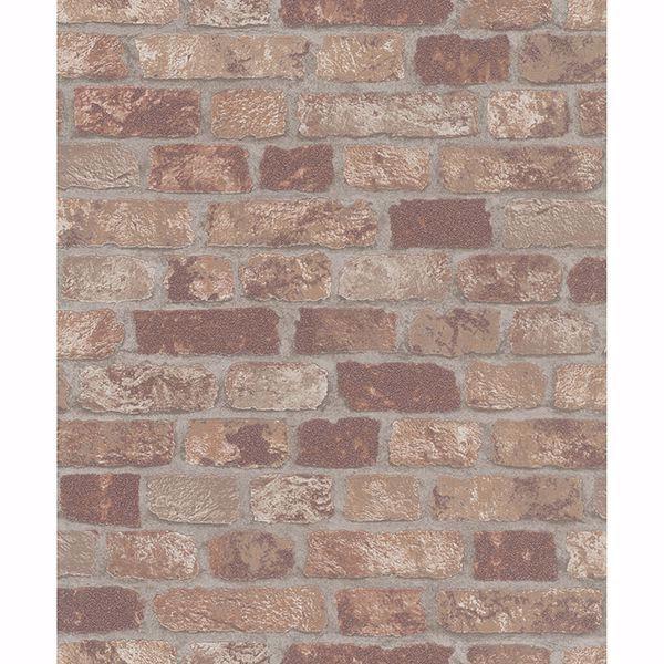 Picture of Granulat Brown Stone Wallpaper