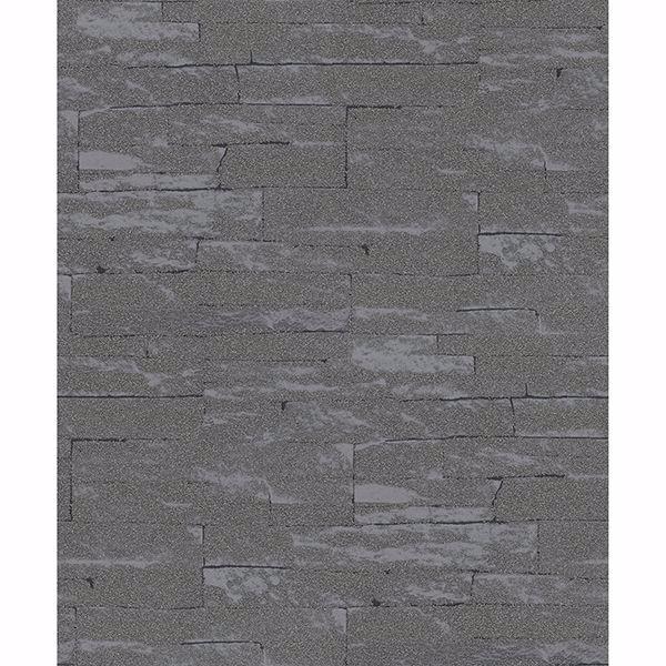 Picture of Rheta Charcoal Stone Wallpaper