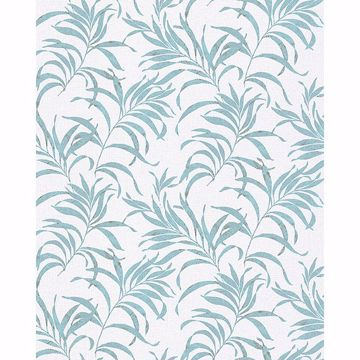 Picture of Valentina Blue Leaf Wallpaper