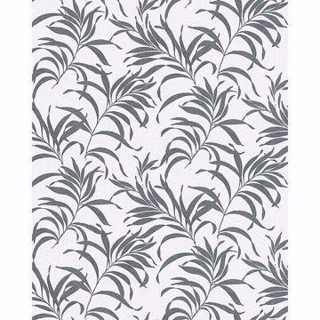 Picture of Valentina Grey Leaf Wallpaper