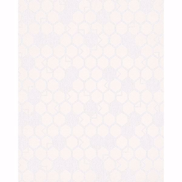 Picture of Natasha Cream Hexagon Wallpaper