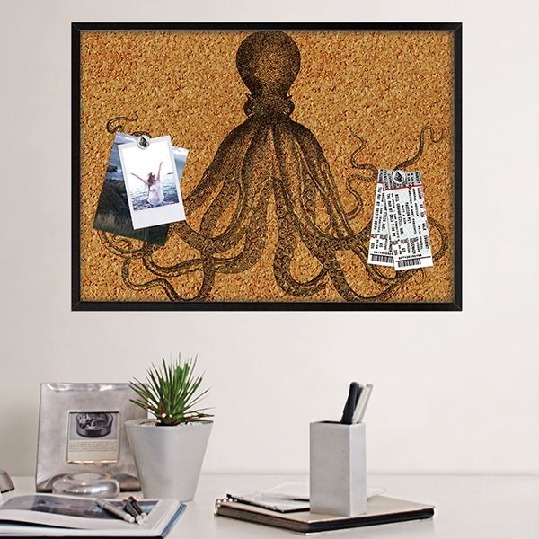 Picture of Black Ink Printed Cork Board
