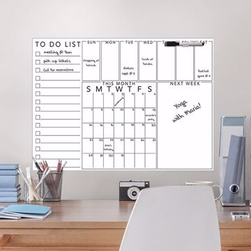 Picture of Get Organized Message Board  Dry Erase Message Board