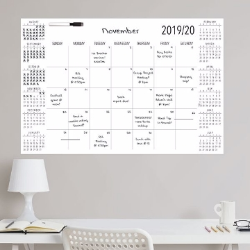 Picture of White Academic 2019-2020 Dry Erase Calendar