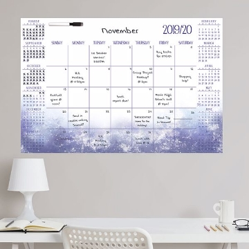 Picture of Cosmic Academic 2019-2020 Dry Erase Calendar