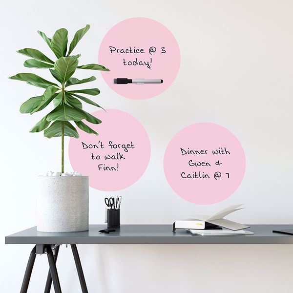 Picture of Blush Dry Erase Dot Decals