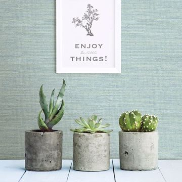 Picture of Agave Mint Faux Grasscloth Wallpaper