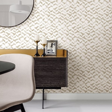 Picture of Instep Champagne Abstract Geometric Wallpaper