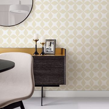 Picture of Telestar Yellow Geometric Wallpaper