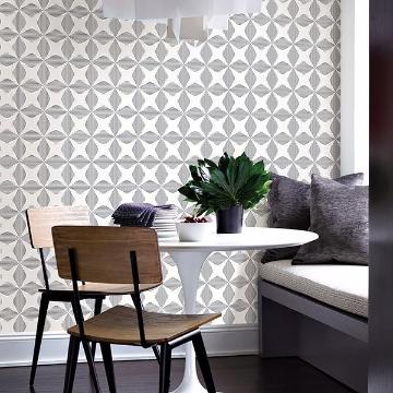 Picture of Telestar Black Geometric Wallpaper