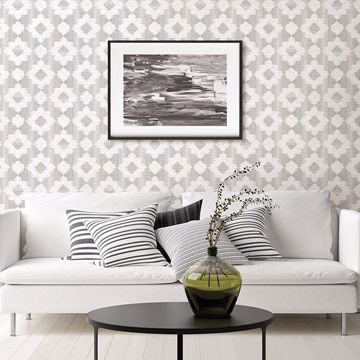 Picture of Babylon Metallic Abstract Floral Wallpaper