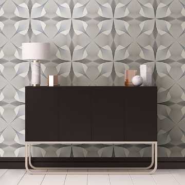 Picture of Radius Black Geometric Wallpaper