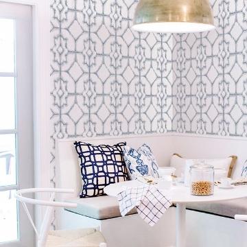 Picture of Verandah Light Blue Shibori Wallpaper