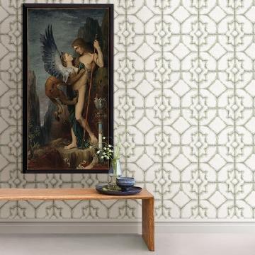Picture of Verandah Moss Shibori Wallpaper